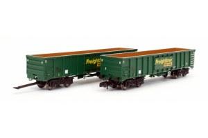 Dapol N 2F-025-004 MJA Freightliner Heavy Haul Box Van Twin 502045 & 046
