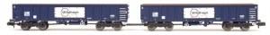 Dapol N 2F-025-006 MJA GBRF Bogie Box Van Twin 502025 & 026
