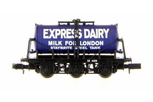 Dapol N 2F-031-019 6 Wheel Milk Tanker Express Dairies Milk For London