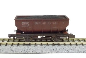 Dapol N 2F-034-040 21T Hopper British Steel 33 Weathered