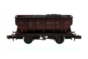 Dapol N 2F-034-064 21T Hopper Doncaster Coalite 578 Weathered