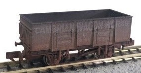Dapol N 2F-038-024 20T Steel Mineral Cambrian Wagon Works Weathered