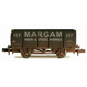 Dapol N 2F-038-026 20T Steel Mineral Wagon Margam Weathered