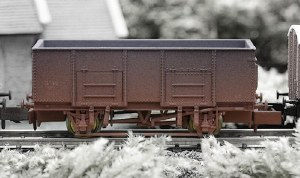 Dapol N 2F-038-038 20T Steel Mineral Wagon Cilely 18 Weathered