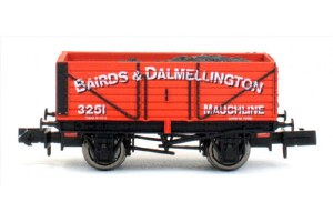 Dapol N 2F-071-025 7 Plank Bairds & Dalmellington 3251 Weathered
