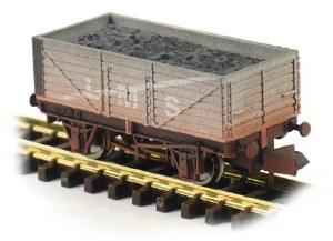 Dapol N 2F-071-035 7 Plank Wagon LMS 302080 Weathered