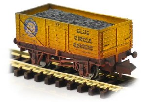 Dapol N 2F-071-055 7 Plank Blue Circle Cement 178 Weathered