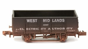 Dapol N 2F-038-008 West Midlands Electricity 20T Steel Mineral Wagon Weathered