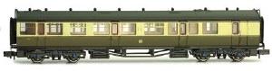 Dapol N 2P-000-282 Collett Coach GWR S/B Chocolate/Cream Brake Composite 6532