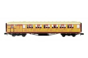 Dapol N 2P-011-209 Gresley Coach LNER Teak Brake Composite 5531