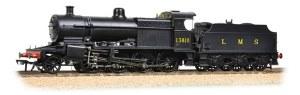 Bachmann OO 31-015 Class 7F 2-8-0 13810 LMS Plain Black