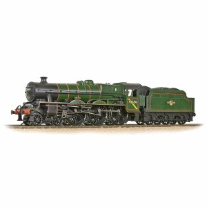 Bachmann OO 31-186A LMS 5XP 'Jubilee' with Riveted Tender 45654 'Hood' BR Lined Green (Late Crest)