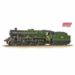 Bachmann OO 31-186ASF LMS 5XP 'Jubilee' with Riveted Tender 45654 'Hood' BR Lined Green (Late Crest) - Sound Fitted