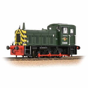 Bachmann OO 31-361B Class 03 D2028 BR Green with Wasp Stripes