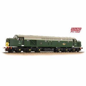 Bachmann OO 32-487SF Class 40 Disc Headcode D213 'Andania' BR Green (Small Yellow Panels) - Sound Fitted