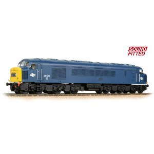Bachmann OO 32-701ASF Class 46 Centre Headcode 46020 BR Blue - Sound Fitted