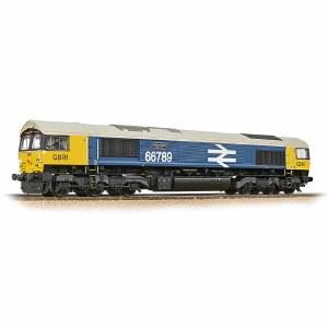 Bachmann OO 32-740 Class 66/7 66789 'British Rail 1948-1997' GBRf BR Blue (Large Logo)