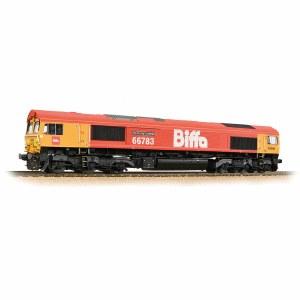 Bachmann OO 32-741 Class 66/7 66783 'The Flying Dustman' GBRf 'Biffa' Red