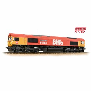 Bachmann OO 32-741SF Class 66/7 66783 'The Flying Dustman' GBRf 'Biffa' Red - Sound Fitted