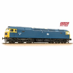 Bachmann OO 32-807SF Class 47/4 47435 BR Blue - Sound Fitted