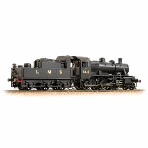 Bachmann OO 32-830A Ivatt Class 2MT 2-6-0 6418 LMS Plain Black