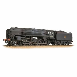 Bachmann OO 32-852A BR Standard 9F with BR1F Tender 92069 BR Black (Early Emblem) - Weathered