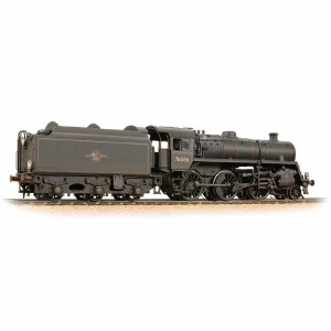 Bachmann OO 32-956 BR Standard 4MT with BR1B Tender 76066 BR Lined Black (Late Crest) - Weathered
