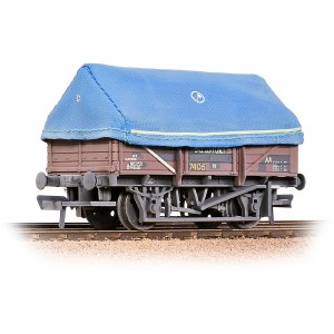 Bachmann OO 33-085A 5 Plank China Clay Wagon with Hood BR Bauxite Weathered