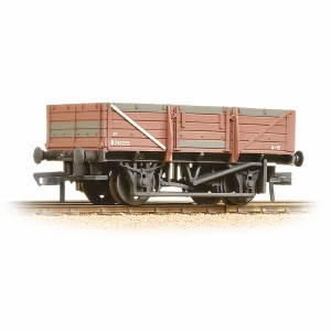 Bachmann OO 33-087 5 Plank China Clay Wagon without Hood BR Bauxite - Heavily Weathered
