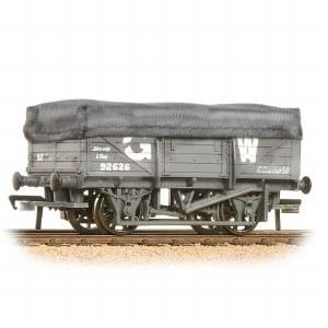 Bachmann OO 33-088 5 Plank China Clay Wagon with Hood GWR Grey Weathered