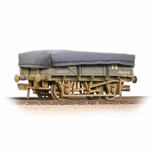 Bachmann OO 33-088A 5 Plank China Clay Wagon GWR Grey With Tarpaulin Cover - Weathered