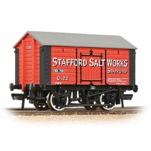 Bachmann OO 33-181A 10T Covered Salt Wagon 'Stafford Salt Works' Red