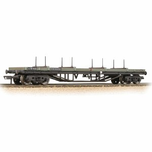 Bachmann OO 33-856E 30T Bogie Bolster BR Grey (Early) - Weathered
