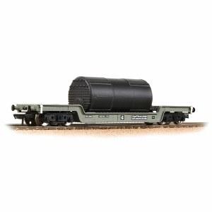 Bachmann OO 33-901F 45T Bogie Well Wagon BR Grey (Early) - Includes Wagon Load