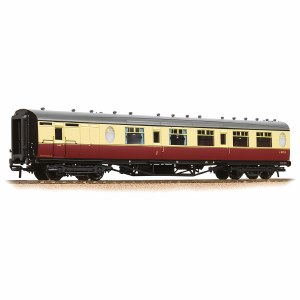 Bachmann OO 34-436 Thompson Brake Composite Corridor BR Crimson & Cream