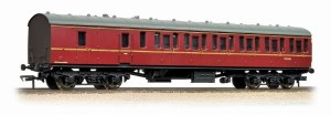 Bachmann OO 34-630B Mk1 57ft 'Suburban' BS Brake Second BR Maroon