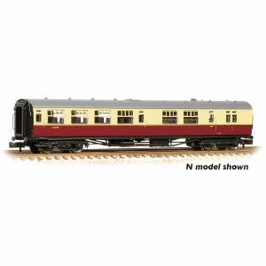 "Bachmann OO 34-727 Bulleid 63' Brake Third Semi-Open 15"" Vents BR Crimson & Cream Set 847"