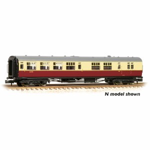 "Bachmann OO 34-727A Bulleid 63' Brake Third Semi-Open 15"" Vents BR Crimson & Cream Set 847"