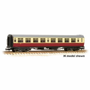 "Bachmann OO 34-776 Bulleid 63' Third Corridor 15"" Vents BR Crimson & Cream Set 847"