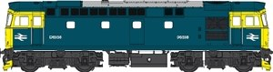 Heljan OO 3437 Class 33/0 BR Blue D6558 with Full Yellow Ends