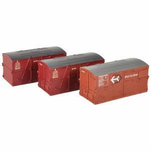 Bachmann OO 36-004A BD Large Containers Bauxite and Crimson x3