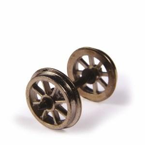 Bachmann OO 36-014 Metal Spoked Wagon Wheels x10