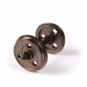 Bachmann OO 36-015 Metal 3-Hole Disc Wagon Wheels x10