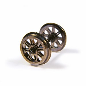 Bachmann OO 36-028 Metal Split Spoked Wagon Wheels x10