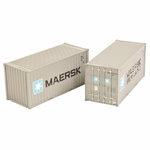 Bachmann OO 36-126 20ft Containers x2 Maersk