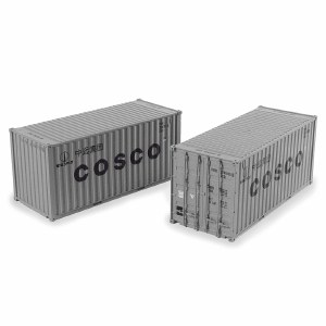 Bachmann OO 36-127 20ft Containers x2 Cosco