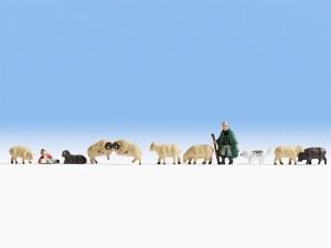 Noch N 36750 Shepherd & Sheep (11 Figures)