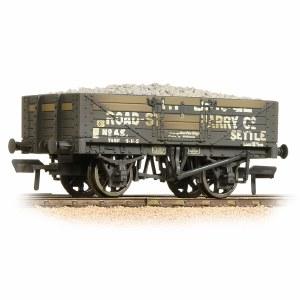 Bachmann OO 37-039 5 Plank Wagon Steel Floor Weathered Helwith Bridge Road Stone Quarry - with Wagon Load