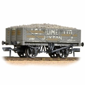 Bachmann OO 37-040 5 Plank Wagon Steel Fllor I.C.I. (Lime) Ltd. Weathered - with Wagon Load