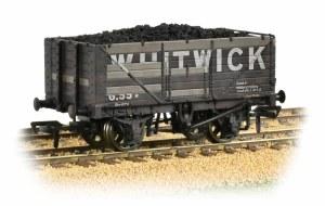 Bachmann OO 37-092 7 Plank End Door Wagon Whitwick Weathered - with Wagon Load